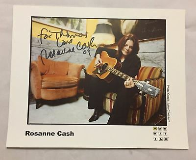 Official Publicity 8X10 ROSEANNE CASH Signed Photograph Johnny COUNTRY OPDYKE