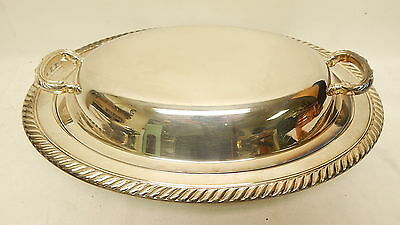 Wm A ROGERS SILVERPLATE COVERED OVAL SERVING DISH LIDDED PAN