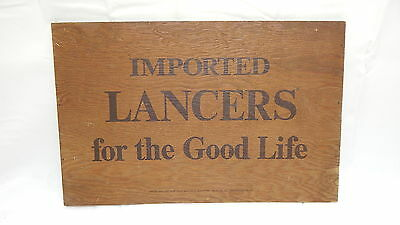 VINTAGE Imported LANCERS For The Good Life Wine Bar Sign Solid Wood 1971
