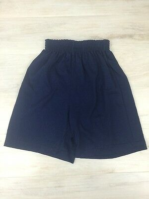 Augusta Sportswear Youth Small Athletic Gym Workout Shorts Navy Cotton Blend