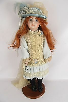 Victorian Full Body Porcelain Redhead Doll