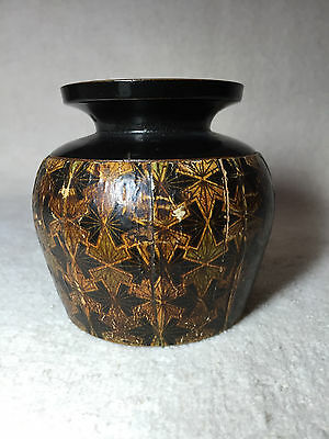 Transfer Ware Round Box Clark & Co. Anchor Advertising inside Lid