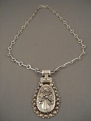 Extra Heavy And Thick Navajo Ben Begaye Silver Ornate Necklace