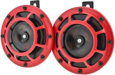 Hella Twin Supertone Horn Kit - Red (003399801RD)