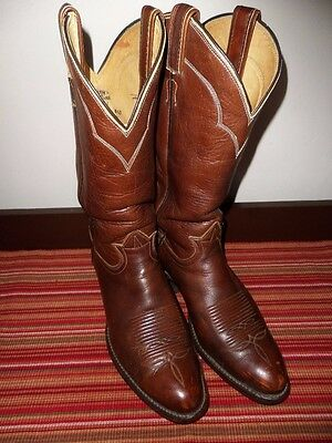 Vtg Tony Lama #5084 Mens Western Boots Brown Leather Size 8.5 D