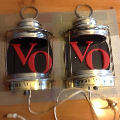 (2)Vintage Seagram's VO Bar Lights