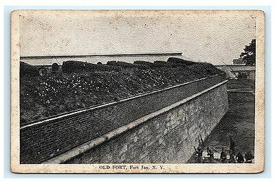 Old Fort Fort Jay New York NY Postcard Army A.M. Simon Governors Island