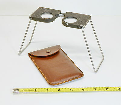 VINTAGE ABRAMS CF-8 FOLDING POCKET STEREOSCOPE with CASE