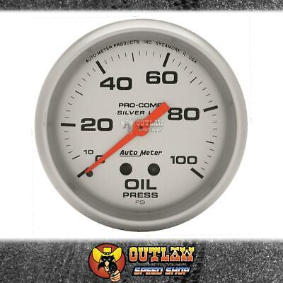 "Autometer Oil Pressure Gauge Ultralite Liq Filled Mech 2.5/8"" 100 Psi - Au4621"