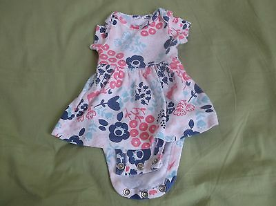 newborn girls dress with attached panty