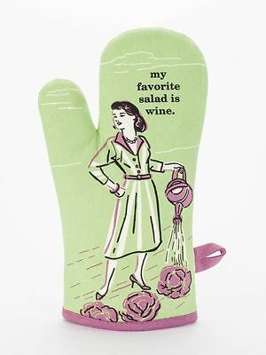 Blue Q Oven Mitt My Favorite Salad Is Wine Humourous Funny Quirky Christmas Gift