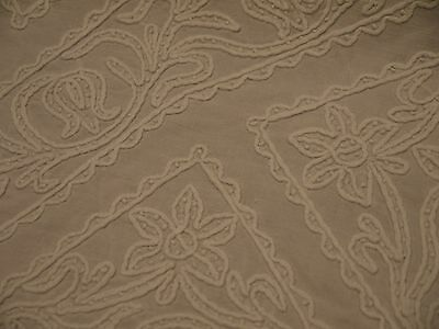 Antique*Early*Linen*Needle Lace*Handmade*Embroidered*White on White Tablecloth*