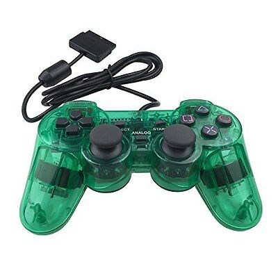 PS2 Wired Controller For Sony PlayStation 2 Green Brand New 1Z