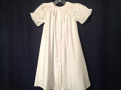 12M Ready To Smock Bishop Day gown White