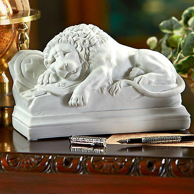 Mortally Wounded Lion  Of Bravery Loyalty Bonded Marble Statue
