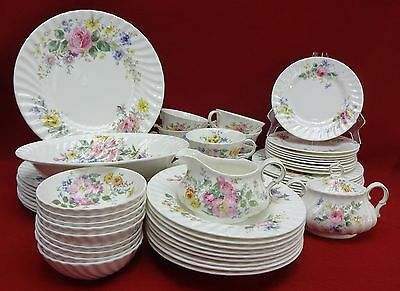 ROYAL DOULTON china ARCADIA H4802 brown stamp 67-pc SET SERVICE for 9 fruit soup