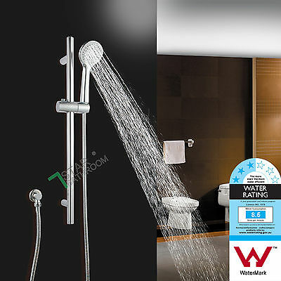 WELS Square Hand Held Shower Spray Head Sliding Rail Wall Connector Set