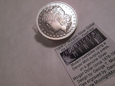 1964-D Clashed Dies PL Morgan Silver Dollar Daniel Carr Fantasy Proof like
