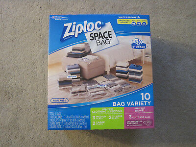 Ziploc Vacuum Seal Storage Space Bags X large, Large, Medium or Travel Size