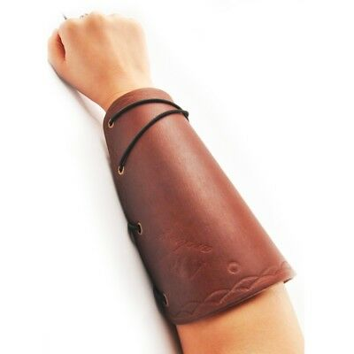 Brown Color Leather Arm Guard Protector Hunting Accessories for Shooting Use