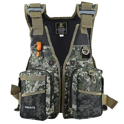 Fly Fishing Backpack Chest Bag Vest Back Pack Fishing Outdoor / Adjustable Size