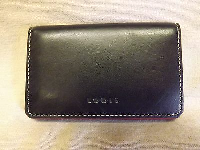 LODIS MINI Solid Leather ID Credit / Business Card Case -  Magnetic Closure