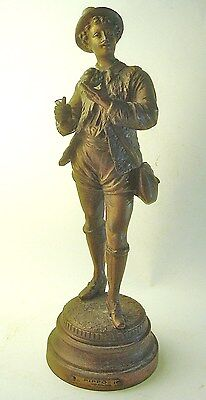 "Antique Bronze ""Pippo"" Statuette by Bruchon- Late 19th Century"