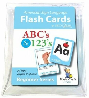 ASL Flash Cards Children Signs for ABC's and 123's - English, Spanish and Sign