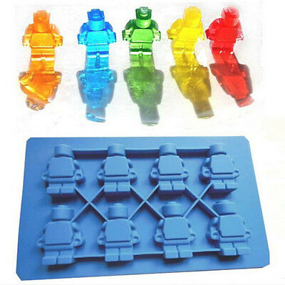 Minifigure Style Silicone Cake Mould Ice Cube Tray Chocolate Candy Mold DIY