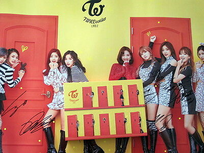 TWICE autographed signed 2017 TWICEcoaster : LANE 2 album CD korean A version