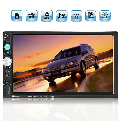 7'' 2DIN HD Bluetooth Touch Screen Auto Car Stereo Radio MP5 Player Display NEW