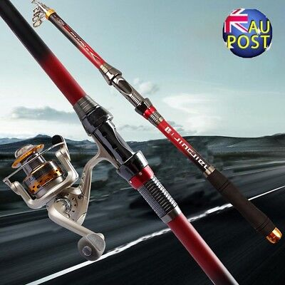 2.1M Portable Super Strong Carbon Telescopic Spinning Pole Sea Fishing Rods MN