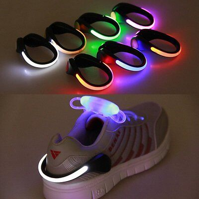 Luminous LED Shoes Clip Light Running Sports Shoe Safe Warning Night Jogging