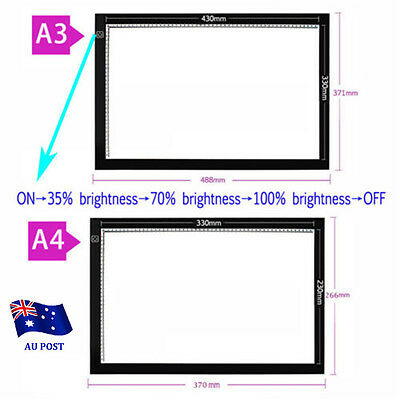 Ultra Thin A3 LED Light Drawing Lightbox Design Stencil Pattern Tracing Pad Box