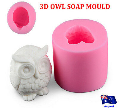 OWL 3D SOAP MOULD Candles/Melts,crafts, Silicone New Hand Crafted Mold NEW  MN