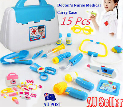 Pretended Doctor's Nurse Medical Carry Case Medical Role Play Set Kids Toy MN