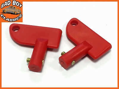 Replacement Spare Key For Battery Cut Off Isolator Switch x2