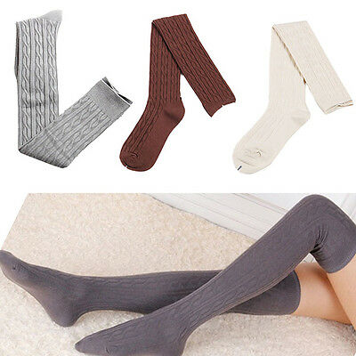 Vogue Women's Over Knee Knitted Stockings Long Socks Thigh-Highs Warm Socks AU