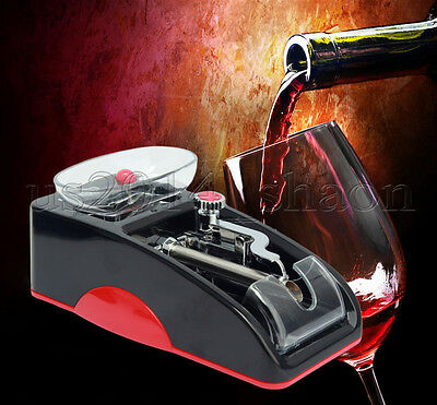 Red Electric Automatic Cigarette Rolling Machine Tobacco Injector Maker Roller