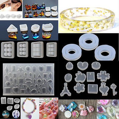 DIY Silicone Moule Gemme Pendentif Collier Bricolage Fabrication Bijoux Mold New