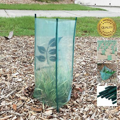 x12 TREE GUARD sets | farm plant, garden or revegetation | bamboo stake options.