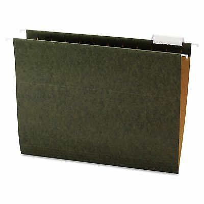 New 25 Pack Letter Sz. Office Impressions 1/5 Tab Hanging File Folders, Green
