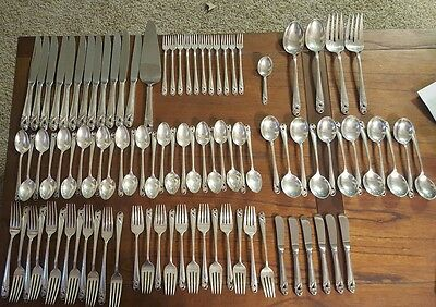 Spring Glory by International Sterling Silver Flatware Service Set 96 Pieces