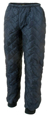 Diamond Mens Under Trousers Thermal Quilted Pants Cold Insulated Polyester Navy