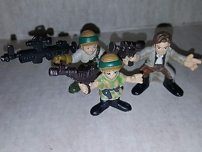 Star Wars Galactic Heroes Han Leia Luke Endor Jedi Action Figures Hasbro Loose