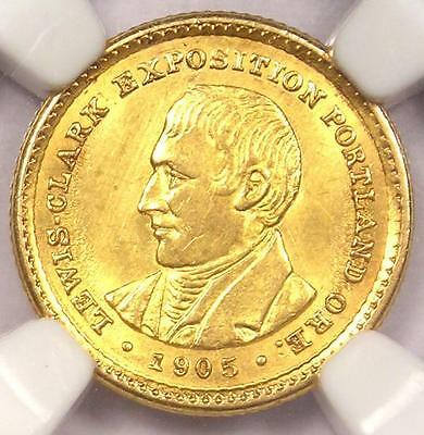 1905 Lewis & Clark Gold Dollar G$1 - NGC Uncirculated - Rare BU MS UNC Coin