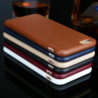 NEW Ultra thin Luxury Soft Leather Back Case Cover Skin For Apple iPhone Models