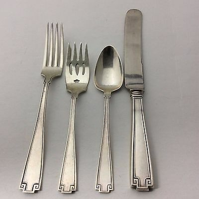 Gorham Sterling Silver Etruscan 4 piece Place Setting Flatware #7223