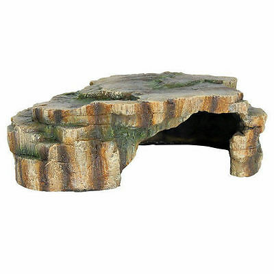 Rainforest Rock Cave Aquarium Ornament Vivarium Decoration Reptile Cave 24cm