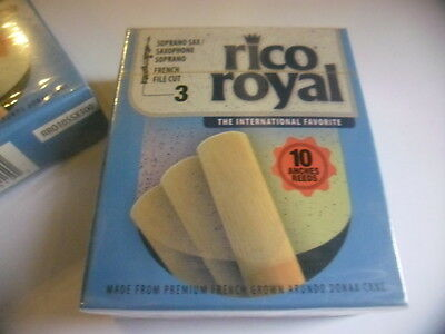 RICO ROYAL RR010SSX300- 10 Anches-reeds saxophone soprano Force 3 - NEW